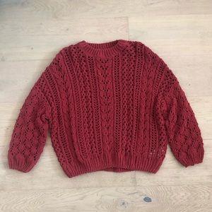 FOREVER 21 NWOT burnt orange/red sweater